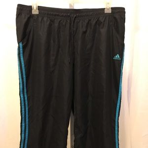 Adidas Capri Knee Length Gray W Blue Sz. XL